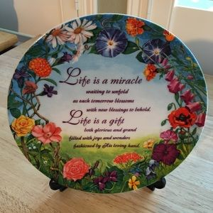 Life Is A Miracle Plate - Gentle Times